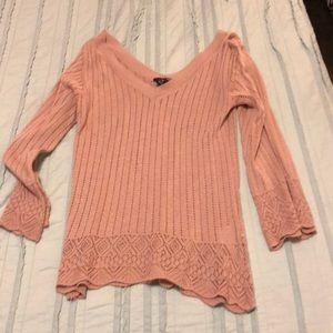 H & M blush colored sweater